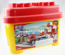 COGO Building Blocks Bricks FIRE FIGHTER Kids DIY Toy Gift Compatible With LEGO
