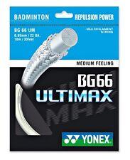 2 x Genuine YONEX YY BG66 UM ULTIMAX Badminton String