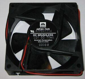 Aromat 80 mm Cooling Fan - 0.8 Watt - 12 V - 2300 RPM - AIF80 - Japan Made