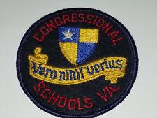 CONGRESSIONAL SCHOOL PATCH Private School Virgina - Vero nihil verius PATCH