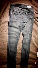 Rag & Bone Womens Designer Denim Jeans Skinny Ankle Dark Blue Wash Size 28