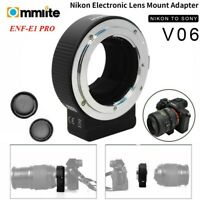 Commlite CM-ENF-E1 PRO AF Lens Adapter for Nikon F Lens to Sony E-Mount Camera