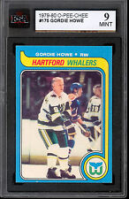 1979 80 OPC O PEE CHEE HOCKEY #175 GORDIE HOWE KSA 9 MINT WHALERS RED WINGS