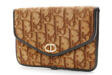 【Rank AB】Auth Vintage Christian Dior Trotter Canvas Pouch Brown From Japan A042