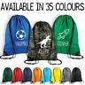Personalised Name Drawstring Bag Kids Boys PE Gym Kit School P.E Sports Bag CN8