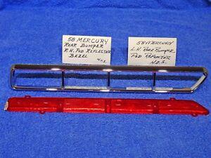 1958 Mercury Rear Bumper Pod Ornament & Reflector NOS