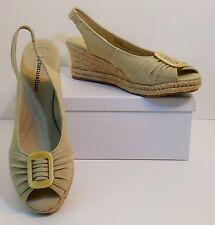 NWOB Naturalizer Bina Tan Slingback Platform Wedge Heel Sandal Shoes 9 M (S235)
