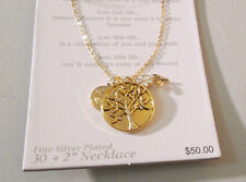 """Love This Life Fine Silver Plated Necklace NEW MSRP $50 - Silver or Gold 30+2"""""""