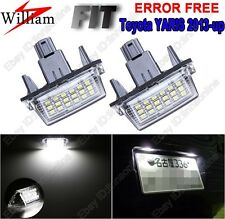 2 Bulbs Xenon White LED License Number Plate Lights For TOYOTA Yaris 2013-2015
