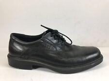 6a106bd2176 ECCO Helsinki Plain Toe Tie Oxford Dress Shoe Black Leather Men Sz 40
