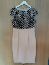 Phase Eight size 12 light pink and black dress