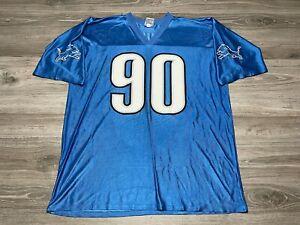 Ndamukong Suh #90 Detroit Lions NFL Team Apparel Football Jersey Men's Size XL