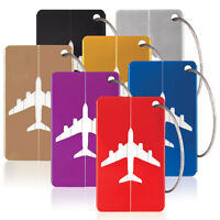 Savisto Aluminium Luggage Tags, Set of 7 Suitcase Identity Labels ID Card Holder