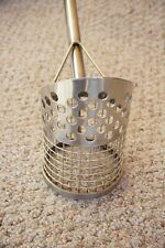 """Reinforced Perforated 36"""" Stainless Steel Sand Scoop"""