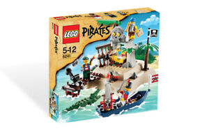 *BRAND NEW* Lego 6241 PIRATES LOOT ISLAND Ship Boat Crocodile Soldier Castaway