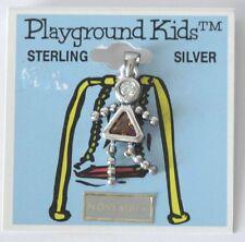 Playground Kids Sterling Silver Pendant November Birthstone Girl