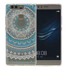Huawei P9 Lite Hülle Case Handy Cover Schutz Tasche Schutzhülle Henna Etuis Blau