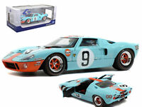 Solido 1:18 1968 Blue Ford GT40 MK1 Widebody GULF #9 24Hour of Le Mans S1803001