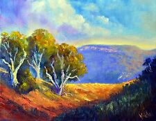 Original Australian Landscape Oil Painting of Hills at Hunter Valley NSW