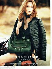 PUBLICITE ADVERTISING 116  2011   le sac Longchamp &  kate Moss