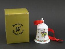 Porcelana Grande Valore Weihnachtsglocke Glocke Steckenpferd Pferde in der ovp