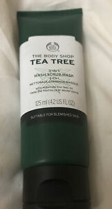 The Body Shop Tea Tree 3-in-1 WASH.SCRUB.MASK For Blemished Skin.BN