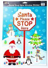 Christmas Santa Please Stop Here Window Sticker (54250)