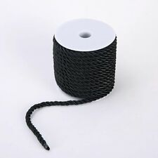 Roll Nylon Cord Necklace 5mm Twisted Satin Finish Polyester Jewelry Cord 1-100M