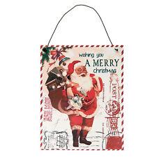 Weihnachten Weihnachtsbild *wishing you a merry Christmas* Metallbild Shabby