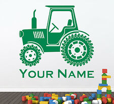 Personalised Tractor John Deere Style U0026 Name Or Text. Wall Sticker Decal Art Part 53