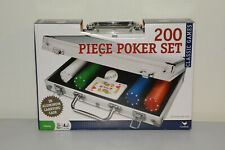 Deluxe Poker Set in Aluminum Case - 200 Dual-Toned Poker Chips