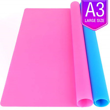 LEOBRO 2 Pack A3 Large Silicone Sheet for Crafts Jewelry Casting Moulds Mat, & x
