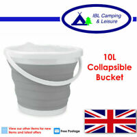 Collapsible folding silicon plastic BUCKET - Kitchen Camping Motorhome Caravan