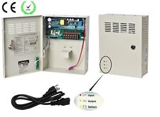 9Channel DC12V 5A UPS Box Power Supply Support Battery CE ROHS For CCTV Camera