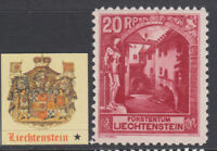 LIECHTENSTEIN - EARLY YEARS  Lot 03  MH* yv 97a  cv 60$