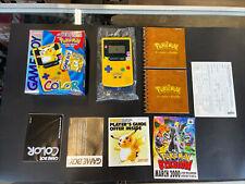 Game Boy Color⚡Pokemon Pikachu Yellow System✨100% Complete CIB Nintendo Console