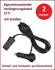 12 V Zigarettenanzünder Verlängerungskabel mit Schalter 2 m KFZ Auto LKW 5 A