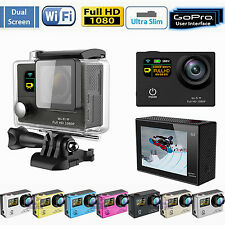 NEW Dual LCD HD 2'' WiFi Pro Action Sports DV Camera Recorder Go Kart HDMI 1080P