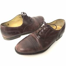 Cole Haan Italy Mens 10W Cap Toe Burgundy Wine Lace Up Oxford Dress Shoes