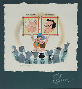 Bill Hanna/Joe Barbera Tribute Giclee On Paper Signed+Remarked by Bob Singer