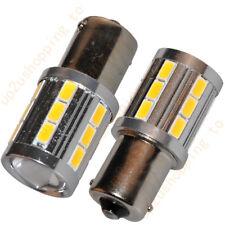 2 x 700lm 1156 BA15S Car Warm White 21 5730 5630 SMD LED Tail Signal Light Bulb