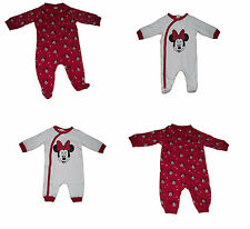 Baby Girls Sleepsuits Baby Grow Pyjamas Disney Minnie Mouse T/b Upto 24 Months
