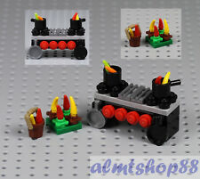 LEGO - Vegetable Cook Pots w/ Carrots Zucchini Peppers Kitchen Stove Pan Minifig