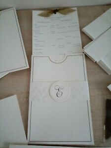 WEDDING STATIONERY KIT - 50 INVITATIONS - ***RRP £39.99 - ***