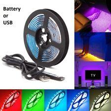0.5M-2M 5V 5050 RGB LED Strip Light Colour Changing USB BATTERY TV PC Lighting