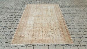 Oushak 6x9, Turkish Rug,vintage,anatolian,BEIGE,kilim,Bohemian,handmade,wool