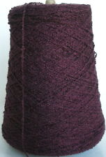 New listing Boysenberry Rayon Bouclé cone yarn weave knit crochet 1450 ypp, 1 lb.