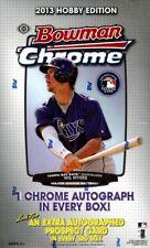 2013 BOWMAN CHROME BASEBALL HOBBY BOX BLOWOUT CARDS