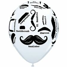 "10 pc 11"" Mustache Styles Latex Balloons Party Decoration Happy Birthday Father"