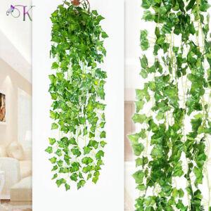 24X Artificial Ivy Leaf Trailing Vine Fake Foliage Flower Hanging Garland Plant